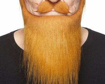 Medieval King ginger beard, mustache and eyebrows (036-LB)
