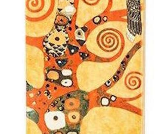 Flat Candle - a Unique and Beautiful Christmas Gift. Art Series Gustav Klimt.