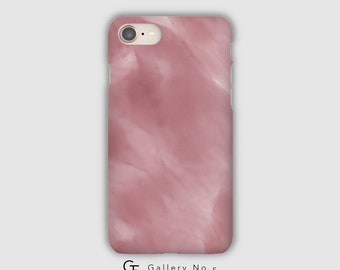 Soft pink art phone case - iPhone 7 - iPhone 8 - iPhone X - Samsung Galaxy Note 8 - Samsung Galaxy S6 - S7 - S8 - S9