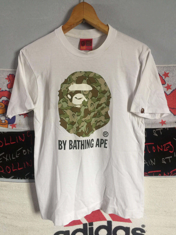 Rare!! A Bathing Ape (Man) Legit Authentic Big Logo Crewneck Sweatshirt DThmc6