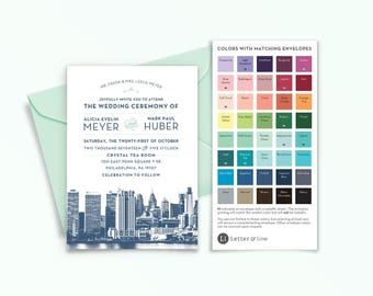 Sample: Philadelphia City Skyline Invitation