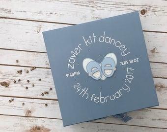 Baby Girl Keepsake Box // Baby Boy Memory Box // Newborn Baby Gift // Christening Gift