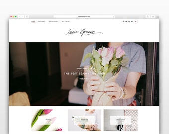 Lucie Grasso - Wordpress theme-Wordpress template- Photography template - Responsive WordPress Theme - wordpress blog theme - Fashion blog