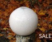 "Snowball Vase, 6"" Bl..."