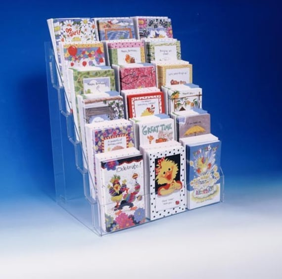 Note greeting card display rack new acrylic 6 tier 16 counter rack note greeting card display rack new acrylic 6 tier 16 counter rack fits most size cards m4hsunfo