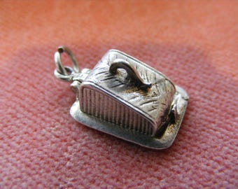 B) Vintage Sterling Silver Charm Cheese dish opens to enamel mouse and cheese
