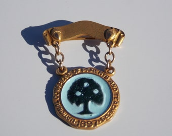 Vintage National Congress of Parents and Teachers 1897 Brooch