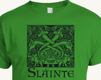 Irish Toast T-shirt, Slainte is a gaelic toast to one's health