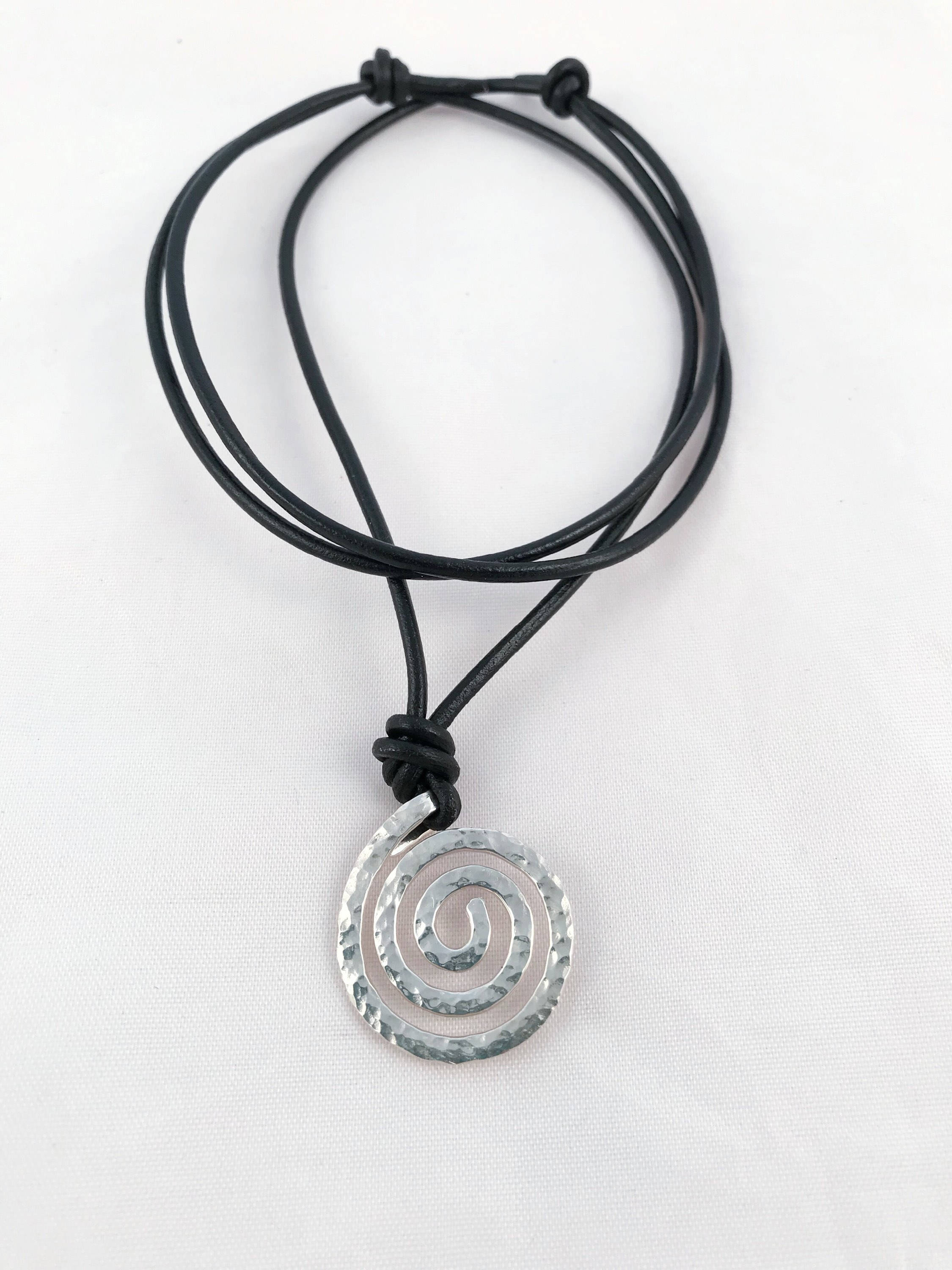 novica necklace ebony hand spiral pendant p wood unfurl carved