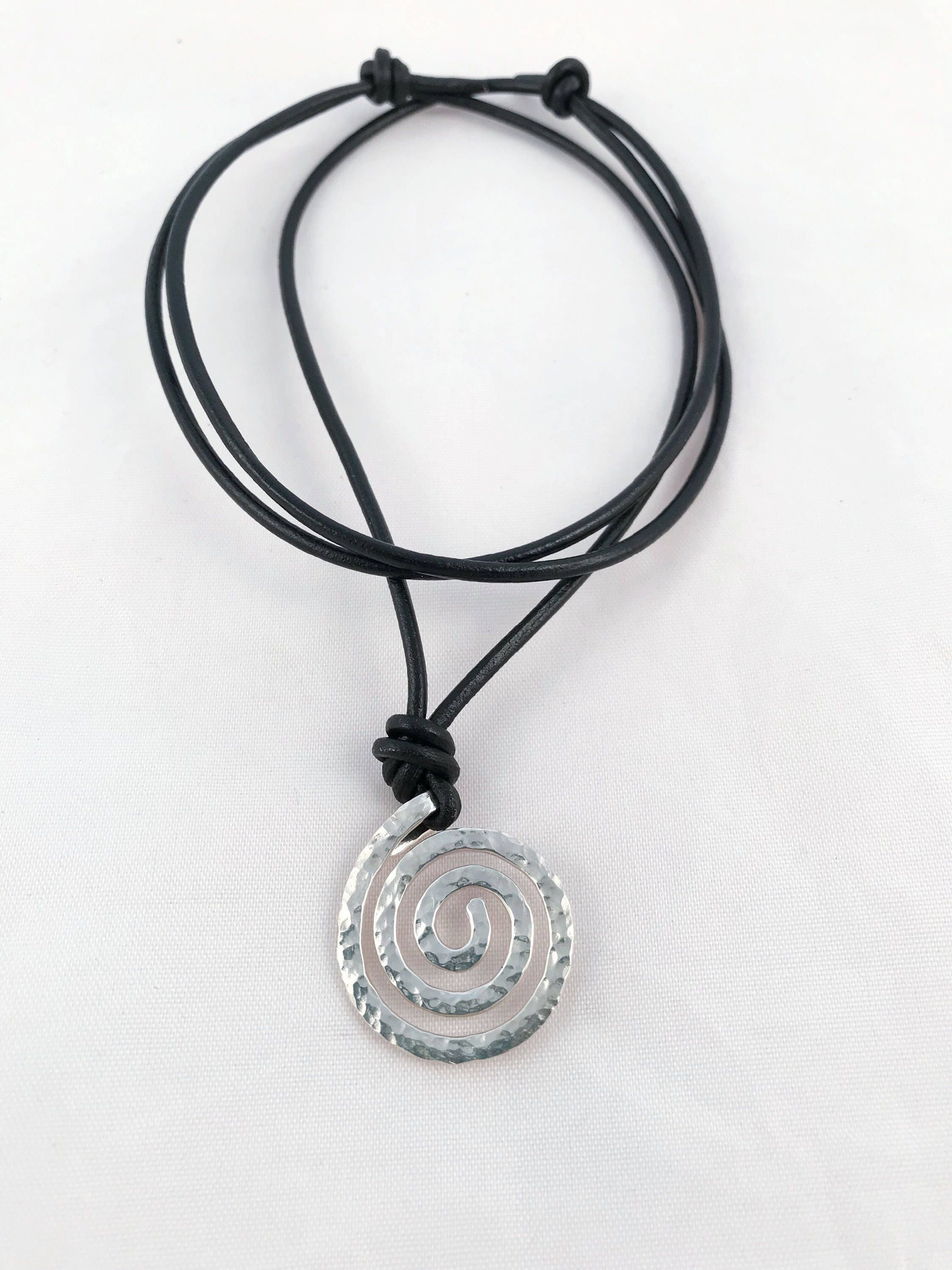 metaphysical spiral w product bead with bail stnpnd pendant nebula stone sterling