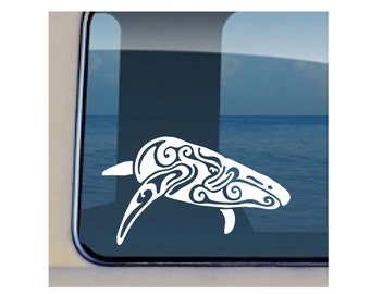 Humback Tribal Decal Hawaiian Sea Life Vinyl Sticker 2