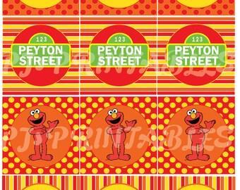 Elmo & Sesame Street inspired Cupcake Toppers- Customized Digital File
