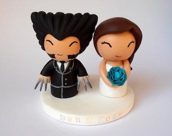 Wolverine inspired wedding cake topper
