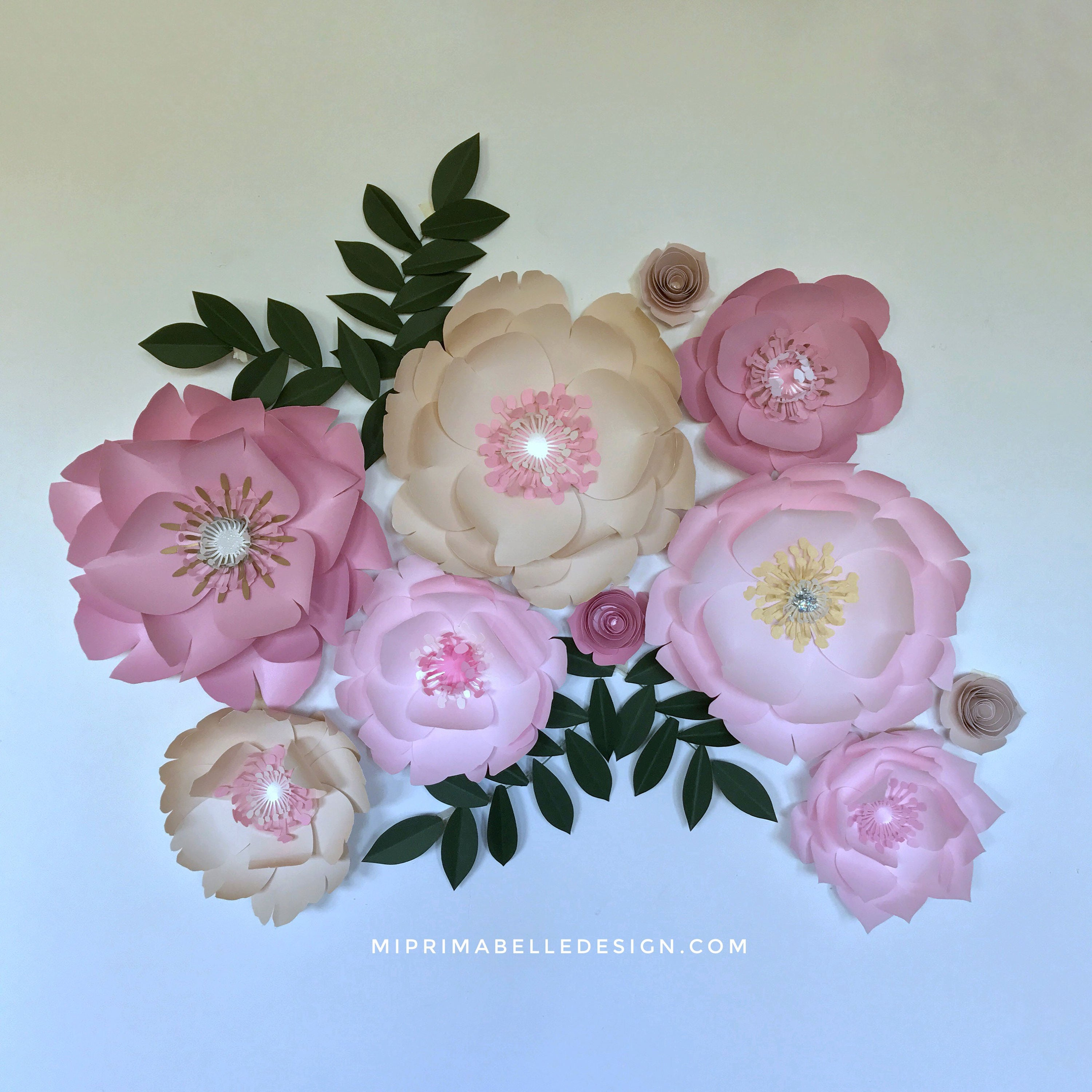Paper flowers flower backdrop decor wedding backdrop bedroom decor wall decor pink paper flowers gallery photo gallery photo mightylinksfo