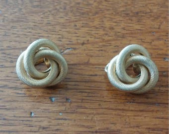 Sarah Coventry Knot Clip Earrings