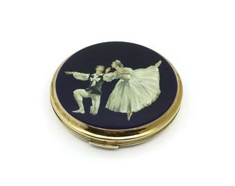 1950's Stratton Compact | Stratton Ballerina Caress Compact | Cecil Golding Les Sylphides | Vintage Ballet Compact | 1950's Powder Compact