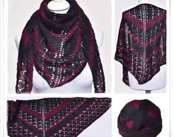Knitting Pattern Lace Shawl Twilight
