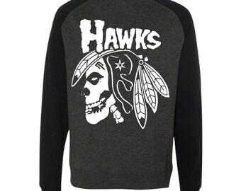 Hawks X Misfits sweatshirt - Blackhawks - Misfits - Chicago Blackhawks - Chicago sweatshirt - punk rock sweatshirt - gift for boyfriend