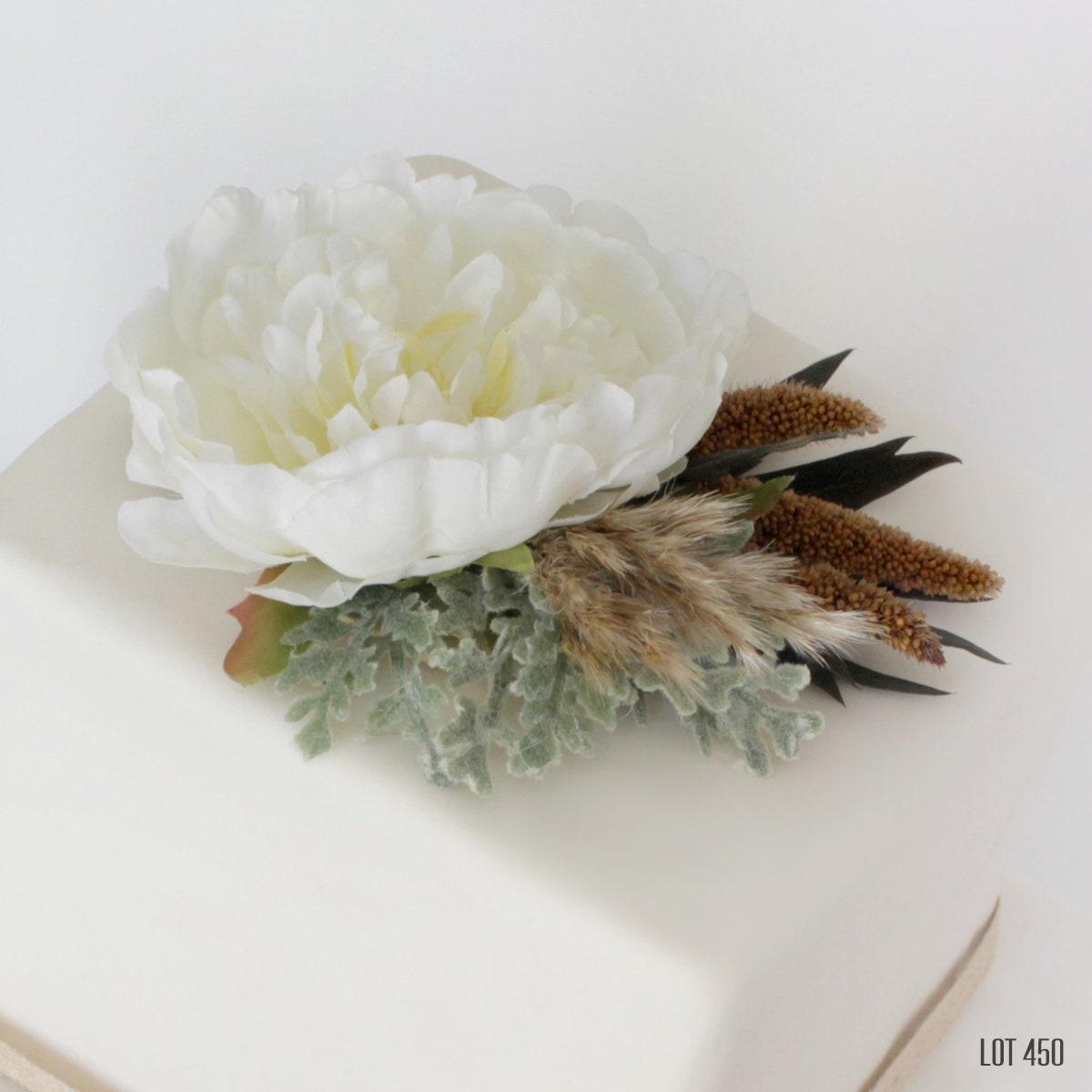 Flower Cake Topper Cake Top White Cake Decoration Wedding