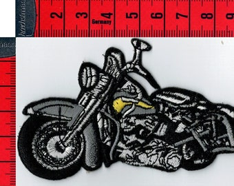 Iron or sew motorcycle Biker gray coat. Patch applique