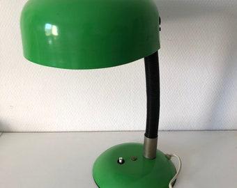 36cm vintage 1960's Green Apple desk lamp