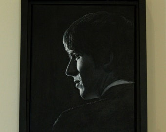 Original Canvas Painting, GEORGE ~ Framed 16 x 13 inches