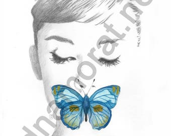 Papillon#1 - poster painting 30x40cm - to download