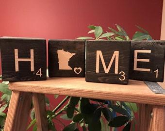 HOME scrabble blocks