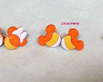 Disney Halloween Candy Corn earrings