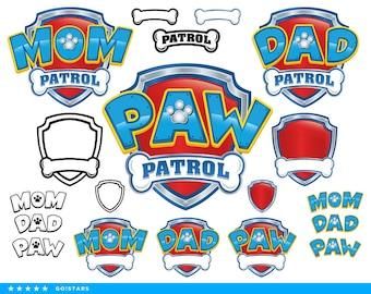 Paw Patrol clipart silhouette – Paw Patrol svg – Mom Patrol svg file – Dad Patrol svg – raster, vector files – svg, pdf, png, dxf, eps