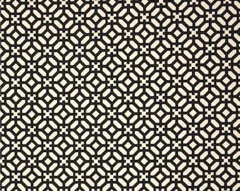 Two 20 x 20  Designer Decorative Pillow Covers for Indoor/Outdoor - Geometric Black/Cream
