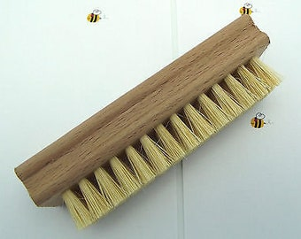 SMALL CEMENT BRUSH for Lead Came Stained Glass Construction Cleaning Hand and Nail Brush Wood and Natural Bristles
