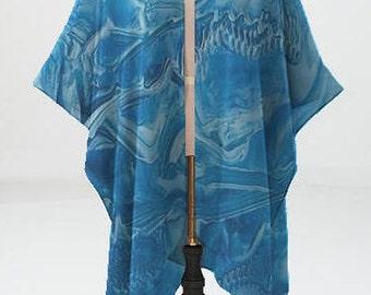 Arctic Blue Sheer Wrap