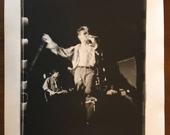 The Smiths photograph live in 1985 at Irvine Meadows silver gelatin print from negative Johnny Marr & Morrissey KRK Dominguez