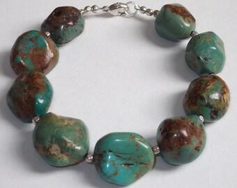 Turquoise Nuggets Beaded Bracelet