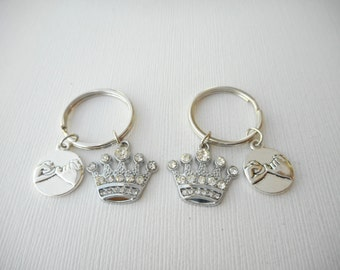 2 Pinky Promise, Crown- Best Friend Keychains/ under 20, gift for her, sister Gift, party favors, Little Girl, Birthday Gift, daughter Gift