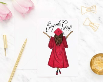 Graduate greeting card, Congratulations card, Graduation card for sister, High school graduation cards, Grad card for her, College grad card