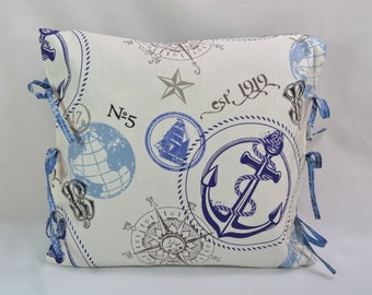 Home Decor... Decorative Pillow... Couch Pillow... Pillow Cover... Nautical Theme Decor... Wholesale Pillows