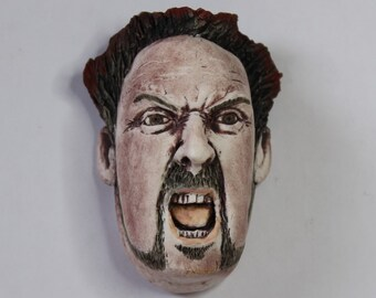 Small OOAK Ceramic Wall Hanging of a Face