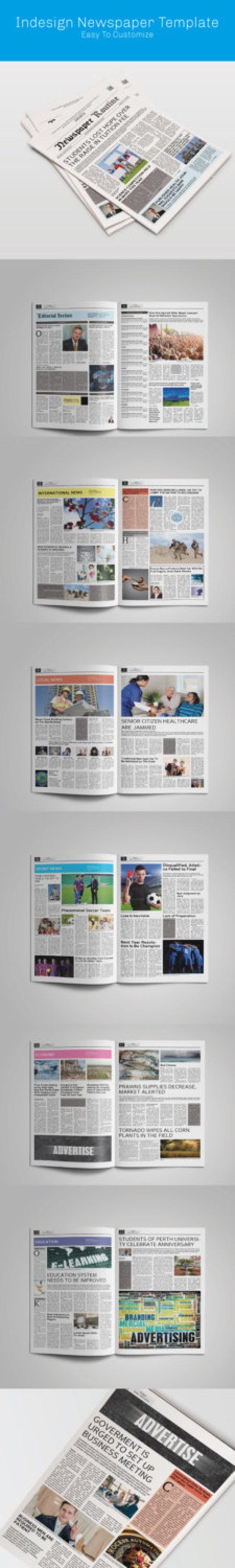 Newspaper Template Tabloid Size