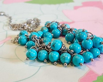 Elsie Turquoise Stainless Steel Necklace