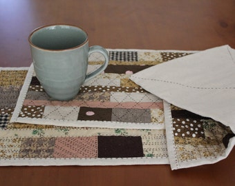 Hand Quilted Placemats - set of 6