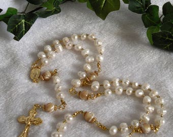 Pearl Rosary  N-119