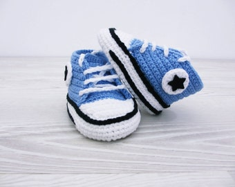 READY TO SHIP Crochet baby shoes Baby sneakers Baby booties Shoes gift Baby shoes handmade Crochet baby set Shoes for baby 0-3 months