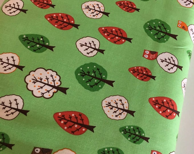 Tree fabric, Owl Decor, Forest Fellows 2, Animal fabric, Kids room decor, Kids fabric, Whimsical, Owls in Forest, Choose the cut