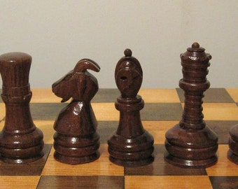 Carved Staunton Chess Pieces etsy handmade chess sets     chess pieces and chess boards