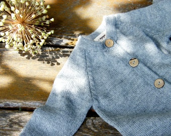 Baby knit jumpsuit alpaca wool overall baby boy outfit baby girl jumper raglan overall baby alpaca knit suit knit baby jumpsuit gray romper