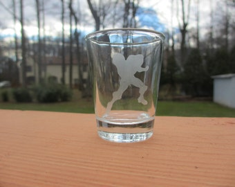 Samus SSBB Silhouette Etched Shot Glass