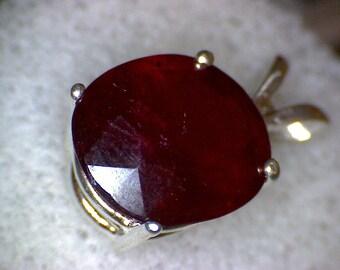 Beautiful Ruby Oval Pendant