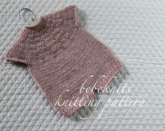 Bebeknits French Style Quick Baby Romper Knitting Pattern
